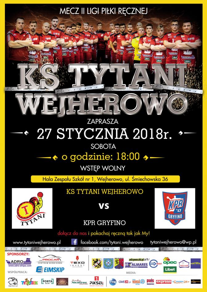 Rozpocząć 2018 rok od mocnego uderzenia – Tytani vs KPR Gryfino